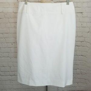 WHBM white pencil skirt